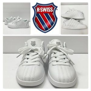 K-Swiss Classic Varsity White Youth Leather Shoes